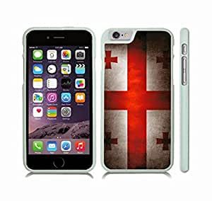 Case Cover For LG G2 with Georgia Flag Vintage Grunge Look Design Snap-on Cover, Hard Carrying Case (White)