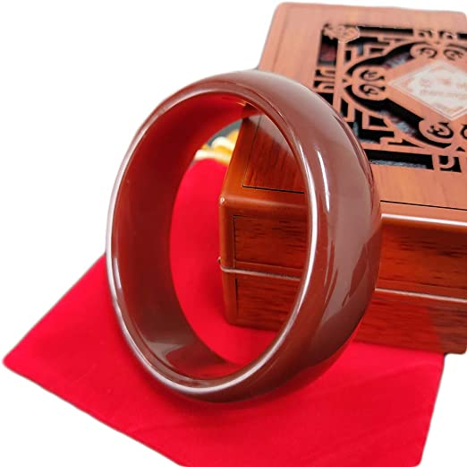 60mm GOOD Beautiful Natural huanglong Jade Chinese Bangle Bracelet
