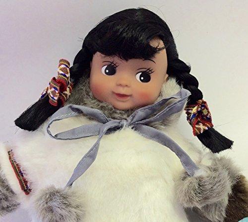 Eskimo Fur Parka - Alaska Eskimo Fur Parka Beanbag Rubber Face GIRL Doll 11