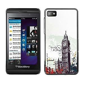 Design for Girls Plastic Cover Case FOR Blackberry Z10 Big Ben City London England Symbol Art OBBA