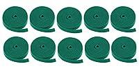 "10 PCS 0.75"" One Wrap Hook & Loop Fastening Tape 5 yd/Roll Green, CNE588858"