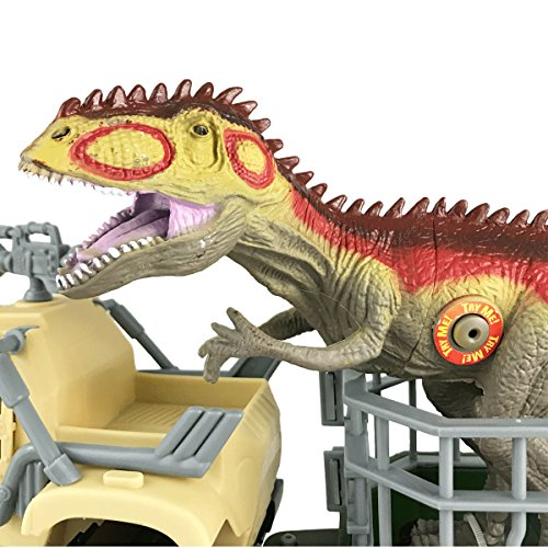 Boley Dinosaur Explorer Toy, dinosaur toy action figure that comes with a roaring t-rex dinosaur,13 piece playset offers house of pretend play!