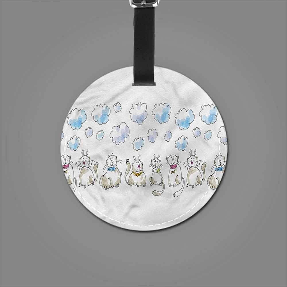 Creative Baggage Baby,Cats Sitting with Collars Address Tags