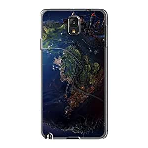 Protector Hard Cell-phone Case For Samsung Galaxy Note 3 With Allow Personal Design Fashion Digital World Skin TraciCheung