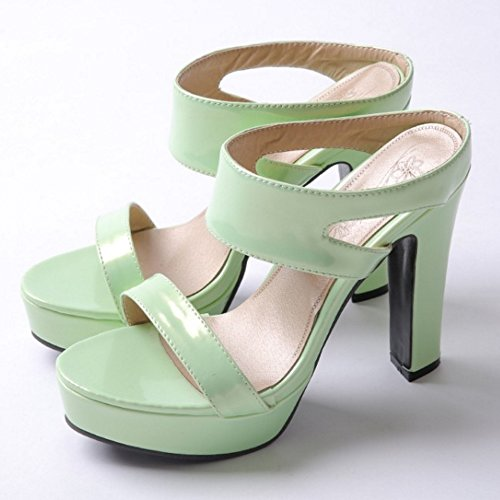 Sandals Heels High Women Zuban On Green Slip Chila wpFIqxn1O