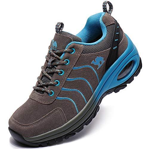 Image of CAMEL CROWN Hiking Shoes Women Men Trekking Trail Shoe Low Top Outdoor Leather Hike Sneakers Shockproof Trek Sneaker