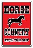 HORSE COUNTRY ~Sign~ parking horses farm farmer gift