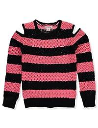 Pink Angel Big Girls' Cold-Shoulder Sweater