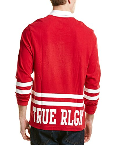e0b68272c82 True Religion Men's Team RLGN 2 Long Sleeve Rugby Polo Shirt (Red/White,  XX-Large): Amazon.ca: Clothing & Accessories