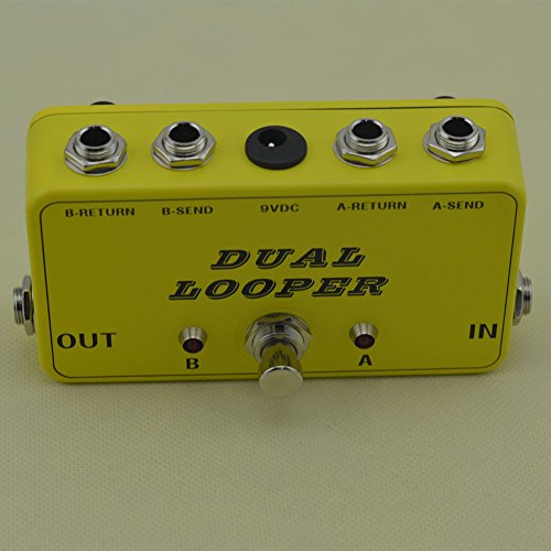 - New True-Bypass Looper Effect Pedal Guitar Effect Pedal Looper Switcher true bypass guitar pedal Light Black dual Loop Yellow switch