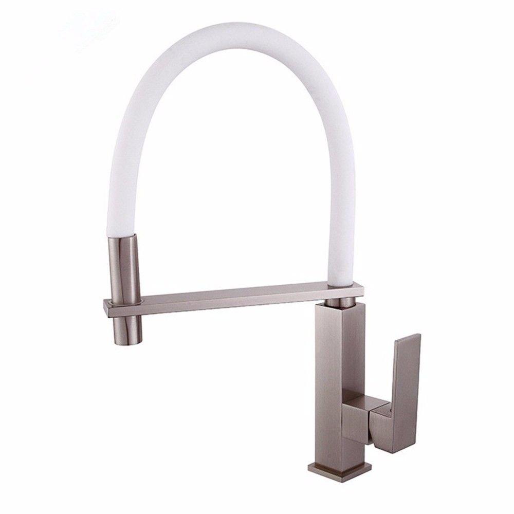 ... Waschtischarmatur Kupferner Heißer Und Kalter Weißer Drehender  Wasserfall Für Und Küchen Mischbatterie Badezimmer  Nqlpug5501 Waschtischarmaturen