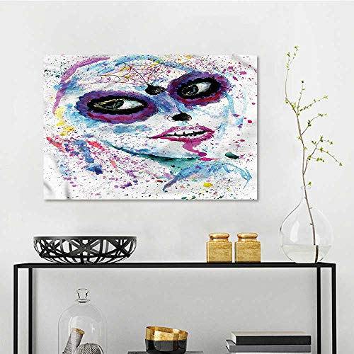 one1love Girls DIY Oil Painting Halloween Lady Make Up Modern Decorative Artwork W23 xL31 ()