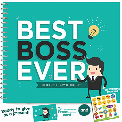 [BEST BOSS EVER APPRECIATION GIFT - Recognition Award Booklet - Birthday Gift Idea For The Boss in the Office! Gifts For Worlds Best Female or Male Boss, Manager or] (Funny Award Ideas)