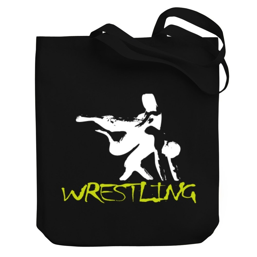 Teeburon Wrestling Canvas Tote Bag by Teeburon