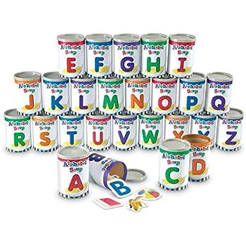 Learning Resources LER6801 Alphabet Soup Sorters, 209 Pieces
