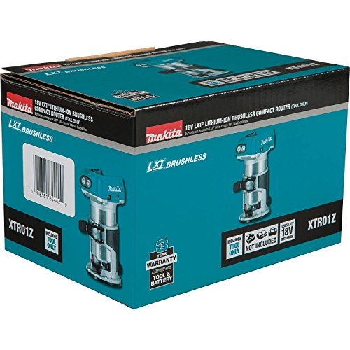 Makita XTR01Z 18V LXT Lithium-Ion Brushless Cordless Compact Router by Makita (Image #7)