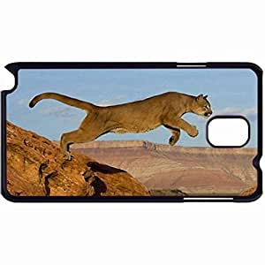 New Style Customized Back Cover Case For Samsung Galaxy Note 3 Hardshell Case, Back Cover Design Cougar Personalized Unique Case For Samsung Note 3