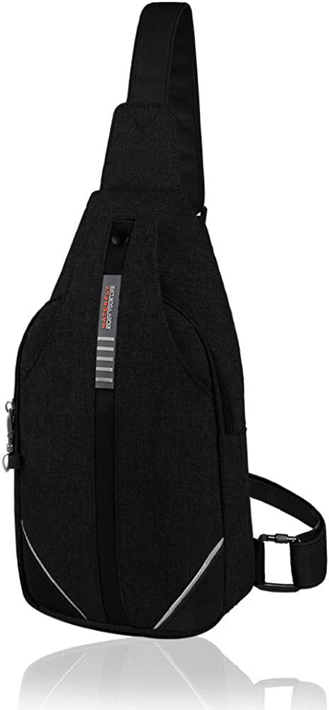 Waterfly Small Crossbody Sling Backpack Anti Theft Backpack for Traveling Chest Shoulder Bag