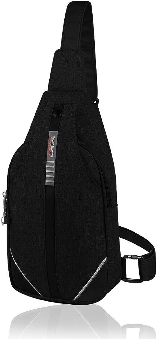 Unisex Men Women Sports Sling Bag  Backpack Grey Crossbody Bags USA Newly