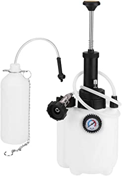 White Qiilu Car Brake Bleeder Bleeding Fluid Change Kit Air Pneumatic Garage Vacuum Tool