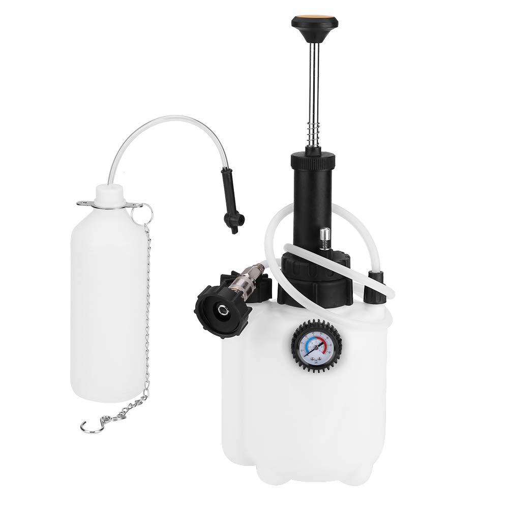Estink Brake Bleeder, 3L Capacity Manual Brake Clutch Fluid Bleeder Bleeding Tool with Universal Adapter for Car Motorbike