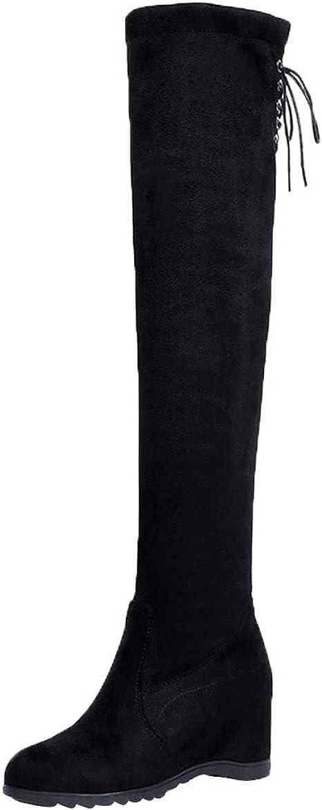 Posional 2019 Zapatos Mujer OtoñO Invierno Botas De Plataforma TacóN Botines Interiores Cuero Caballero Boots Zip Cowboy Shoes De Gamuza Para Mujer Bordadas Invierno Con Flecos Largos Moda: Amazon.es: Ropa y accesorios