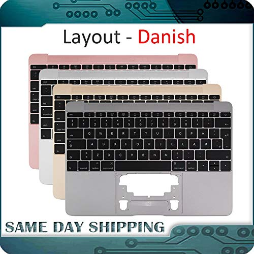 - ShineBear for MacBook 12'' A1534 Danish Denish Danmark Topcase Top Case with Keyboard Gold/Gray Grey/Silver/Rose Gold Color 2015-2017 - (Cable Length: 2015, Color: Grey Color)
