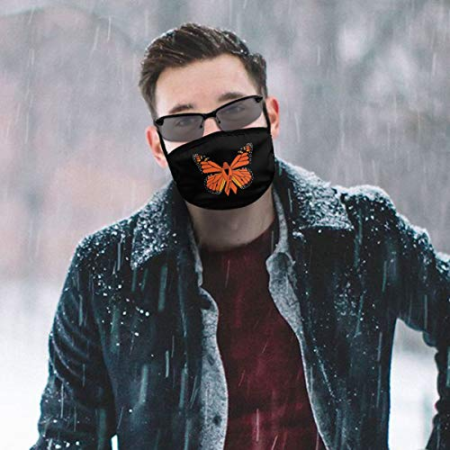 Multiple Sclerosis Awareness Butterflies Unisex Mouth Mask Washable Reusable Dustproof Anti Pollution Dust Mask For Outdoor Cycling Shopping