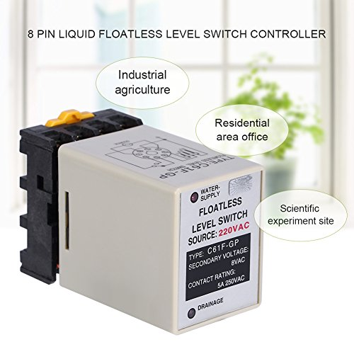 Akozon C61F-GP AC220V 50/60HZ Liquid Floatless Level Switch Controller with Base by Akozon (Image #2)