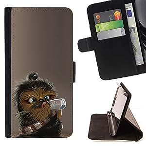 Momo Phone Case / Flip Funda de Cuero Case Cover - Lindo Wookie Chewie Guerra de las Galaxias - Sony Xperia M4 Aqua