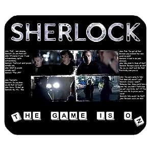 Popular TV Show Sherlock Customize Soft Rectangle Mouse Pad (Black)