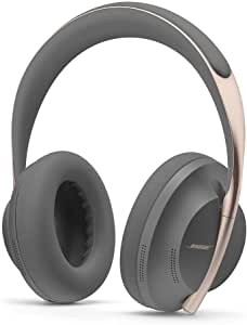 Bose Noise Cancelling Wireless Bluetooth Headphones 700, Smoke Gray + Charging Case with Touch Controls and Mic with Superior voice pickup