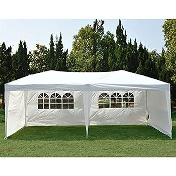 NEW Clevr 10u0027x20u0027 6 Removable Sidewalls 4 w/ Windows Canopy Party Wedding Outdoor Tent Gazebo Pavilion Event  sc 1 st  Amazon.com & Amazon.com : Palm Springs Outdoor 10 x 20 Wedding Party Tent ...