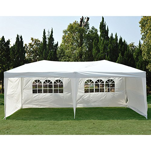 Clevr NEW 10'x20' 6 Removable Sidewalls 4 w/Windows Canopy Party Wedding Outdoor Tent Gazebo Pavilion Event