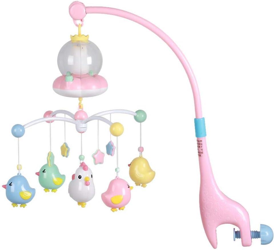 per Lettino per Bambin e Passeggino lyrlody Giostrina Elettrica Musicale per Neonato con 5 Ciondolo di Pulcino Blu Giochi per Culla Sonagli Rimuovibili