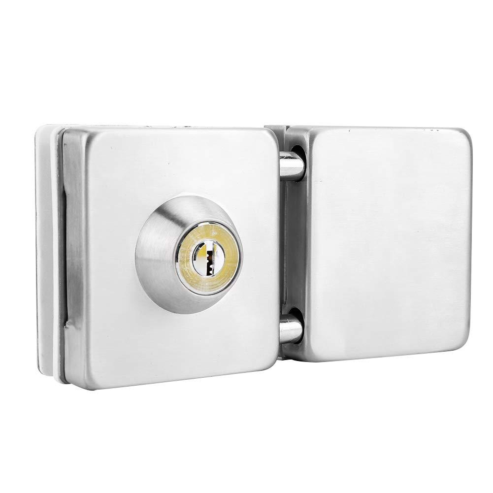 Ciglow Glass Door Lock, 3.9-4.7in Automatic 1-Side Double Glass Door Lock Stainless Steel Door Cylinder Security Lock for Home Hotel Bathroom. by Ciglow