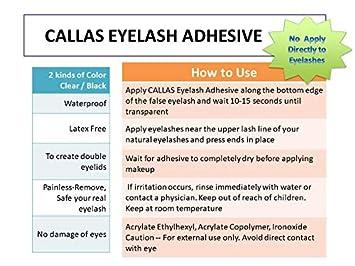 Callas Eyelash Glue Adhesive Latex Free (Clear)
