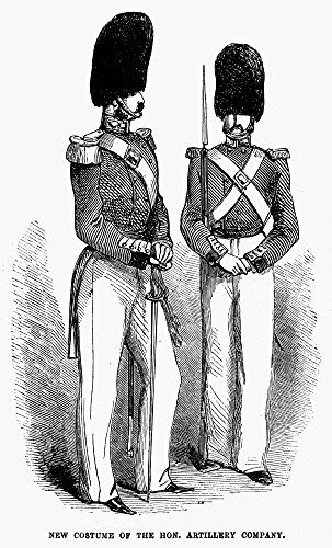 Artillery Company 1855 Nmembers Of The Honourable Artillery Company The Oldest Regiment In The British Army Wood Engraving 1855 Poster Print by (18 x 24) (Best Regiment In The British Army)
