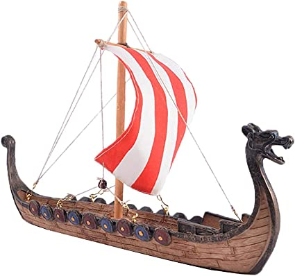 Viking Dragon Longship Model Statue with Base Stand Vessel Battle Ship Prototype Sculpture Figurine - 25.5x5.5x17.5cm: Amazon.ca: Toys & Games