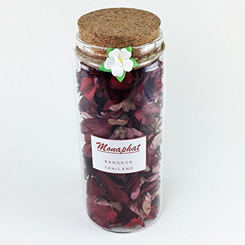 MONAPHAT The Beautiful Glass Bottle Design Decorative with ROSE Fragrance Potpourri #PR-0711 by MONAPHAT