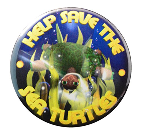 Pack-1 Help Save Sea Turtles Pin-back Button - Senator Joe Biden Vice