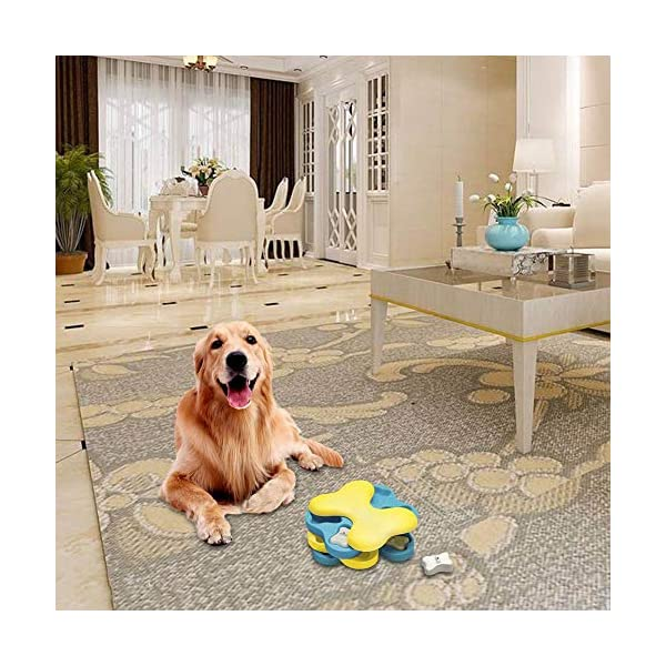 myonly Interactive Dog Puzzle Toy Dog Games Training IQ Toy Bone Tornado Modeling Educational Toy Puzzle Bowl Fun Feeder Funny Playing Toy 7