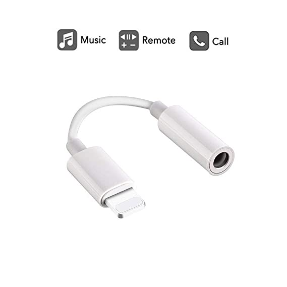 56dae35231346e Labobbon 3.5mm Headphone Jack Adapter, Connector for iPhone Xs/ Xs Max/ XR/ iPhone  8/8 Plus/X (10) / 7/ 7 Plus, iPad and More, Music Control & Calling ...