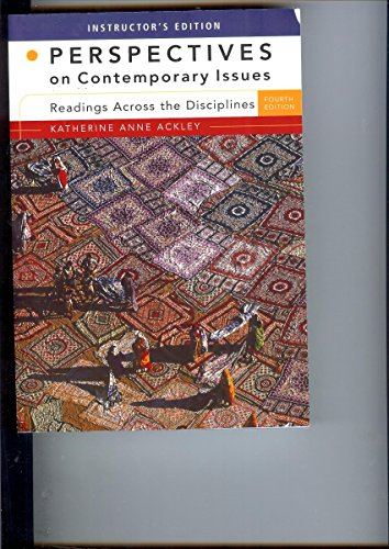 Perspectives on Contemporary Issues: Readings Across Disciplines