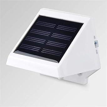 Solares Luz solar 4LED escaleras valla de cortesía Luz solar solar de la pared (Size : Warm white): Amazon.es: Iluminación