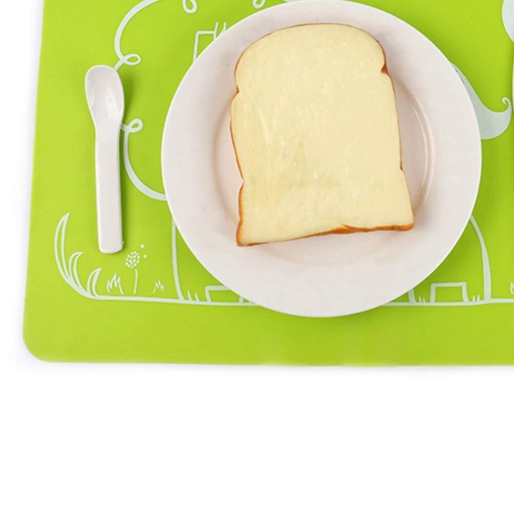 couleur al/éatoire 1 Sets de table en silicone pour enfants nappes de table flexibles et anti-d/érapantes avec motif de lion 40x30cm