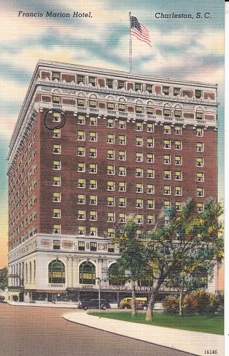 Vintage Unposted Postcard Francis Marion Hotel in Charleston, South Carolina