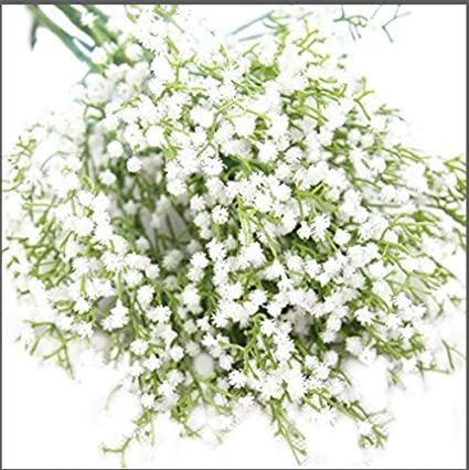 Amazon 21 classic artificial plastic bushes of gypsophila 21quot classic artificial plastic bushes of gypsophila flowers 12 stems white colour flowers real touch mightylinksfo