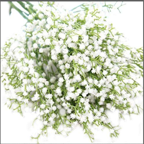 21 Classic Artificial Plastic Bushes of Gypsophila Flowers 12 Stems White Colour Flowers Real Touch Flowers Pu Flower Home Deco