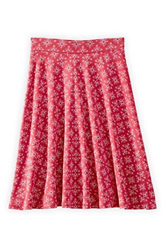Fair Indigo Fair Trade Organic Full Skirt (XS, Vintage Red Medallion)